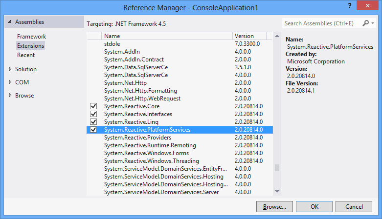 Visual Studio 2017 - Issue with Adding a reference (The